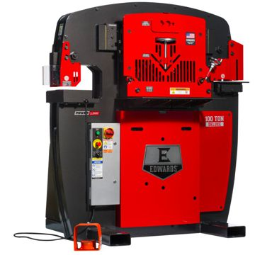 Edwards 100 Ton Deluxe Hydraulic Ironworker