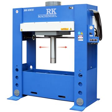 RK 300 Ton Hydraulic H Frame Press With Powered Moveable Head